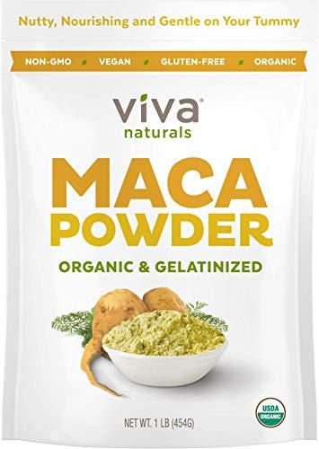 Organic Maca Powder - 16 Ounces (1 LB) - Gelatinized Maca Root Powder for Enhanced Absorption & Digestion, Certified Organic Gluten-Free & Non-GMO