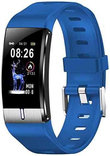 SHIJIAN Pulsera inteligente multifunción reloj de pulsera de grasa corporal medición de presión arterial y monitor de frecuencia cardíaca PPG reloj actividad fitness tracker pulsera-azul