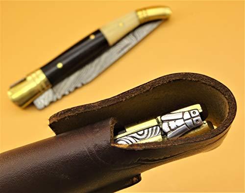 DMZ Taschenmesser-Laguiole-Damastmesser-Jagdmesser-Klappmesser-Holzgriff- 22 cm- (AB900)