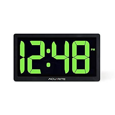 AcuRite LED Digital Clock with Auto Dimming Brightness