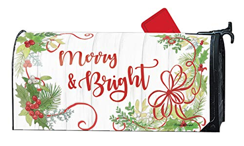 Mailwraps Studio M Winterberry, Winter Christmas, The Original Magnetic Mailbox Cover, Made in USA, Superior Weather Durability, Standard Size fits 6.5W x 19L Inch Mailbox