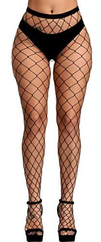 YueDie Women's Sexy Fishnet Sheer High Thigh Garter Belt, Black-l, One Size