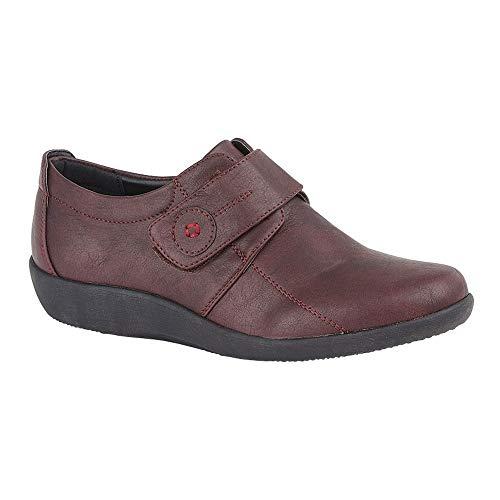 Boulevard mujeres/señoras X ancho EE ajuste Touch cierre barra zapato, color Rojo, talla 37 EU
