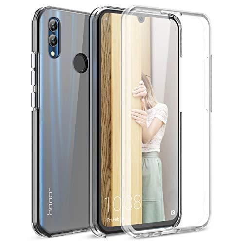 Winhoo per Cover Huawei Honor 10 Lite Custodia 360 Gradi Full Body Rigida Protettiva Protezione per Schermo Morbida Silicone TPU Ai Graffi Antiurto Protezione Posteriore - Trasparente