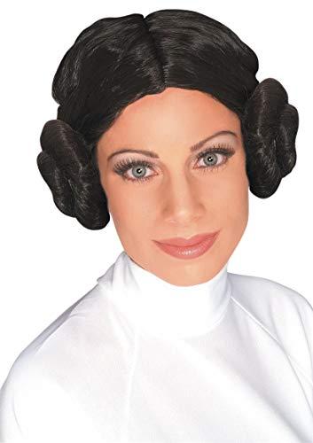 Rubie's officiële Star Wars prinses Leia pruik, volwassenenkostuum, eenheidsmaat