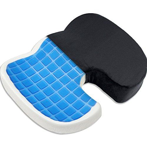 Proveon Steissbein Sitzkissen – Steissbeinkissen aus Memory-Schaum mit Gel
