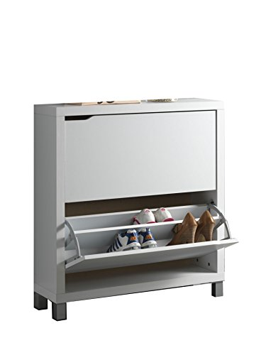 Kit Closet Kubox - Zapatero, 2 Puertas, Color Blanco , madera