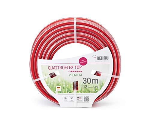 REHAU Premium-Gartenschlauch QUATTROFLEX TOP, sehr flexibel, kein verdrehen, extrem druckfest, 13mm (1/2