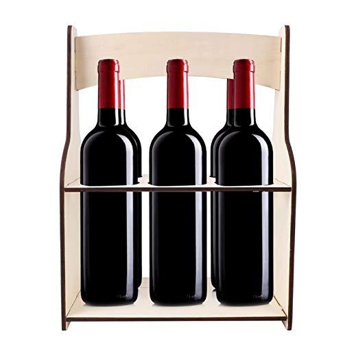 Okuyonic Estante para Vino, Estante para Vino, Exquisito y Conveniente, 1 Pieza para Barra para Colocar Vino
