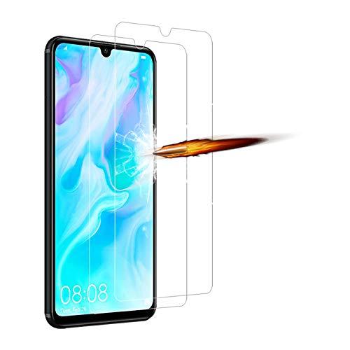 ANKENGS Compatibile con Huawei P30 Lite Vetro Temperato [2 Pezzi] Huawei p30 Lite Schermo in Vetro, [Anti-graffio] [Anti-Bolle] Huawei p30 Lite Screen Protector