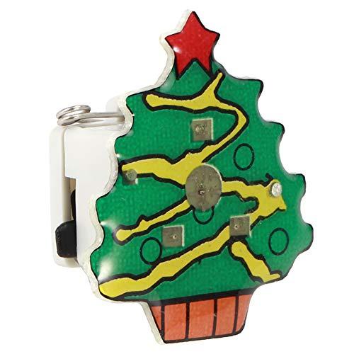 Blantye 25pcs Broche Pin Insignia Tema de Navidad LED Fiesta luminosa Decoración...