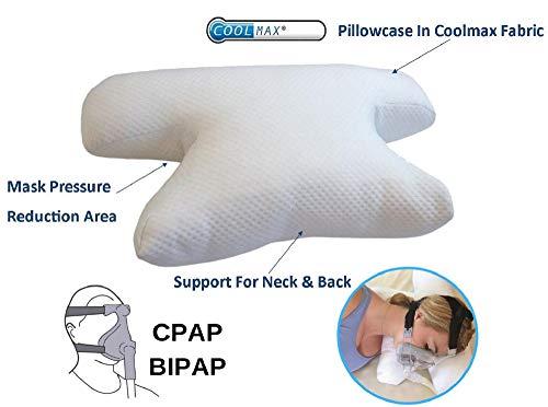 Putnams Apnoe du Schlaf Kopfkissen – CPAP, komfortabel, lindert Pression, Anti-Schnarchen