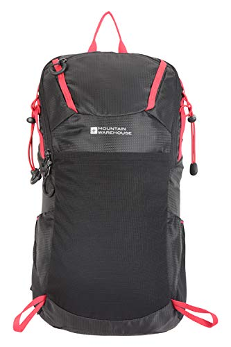 Mountain Warehouse Inca 18L Rucksack - Sternum Strap Backpack, Hydration Compatible Travel Bag Black