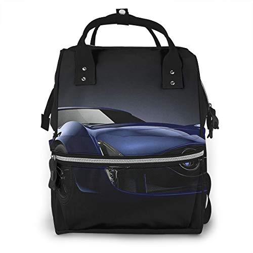 Bolsas de viaje multifunción, mochila para pañales de bebé para mamá, bolsas de escuela de gran capacidad, impermeable y elegante diseño personalizado, impresionante coche deportivo de carreras