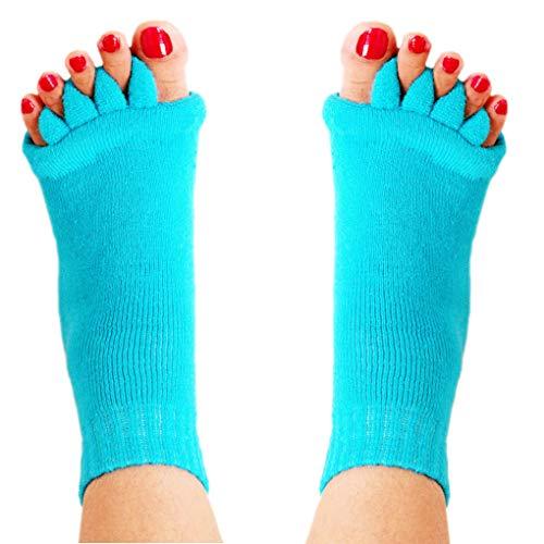 Guangcailun Cinco Dedos del pie Dedo del pie Calcetines Corrección Hallux Valgus Postura Ectropión juanete Corrector