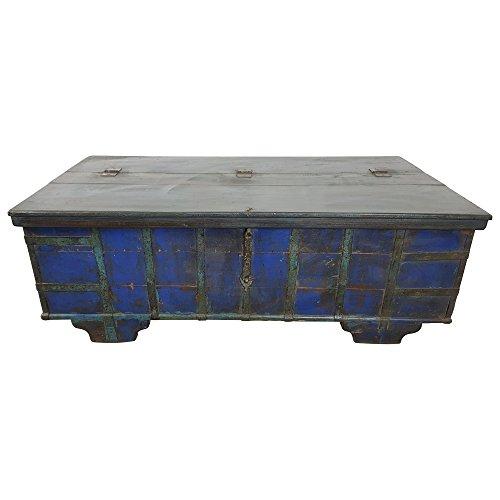 Indoortrend.com Truhen-Tisch Couchtisch Holz-Kiste Wohnzimmertisch Aufbewahrung Vintage Massiv - 2