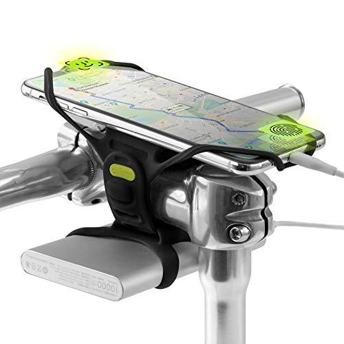 Bone Collection Pro 4 (Gen 4) & Power Strap, 2-in-1 Smartphone + Powerbank (Nicht enthalten) Handyhalterung Fahrrad für 4,7-7,2 Zoll Smartphones, Designed für Straßen, Renn & Tourenräder