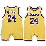 Uniforme de Basket-Ball pour bébé, Gilet sans Manches, Combinaison James Lakers en Coton...
