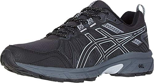 ASICS Women's Gel-Venture 7 Running Shoes, 10.5M, Black/Piedmont Grey