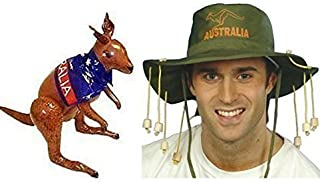 Blue Planet Online Australian Cork Hat and Inflatable Kangaroo Fancy Dress Kit