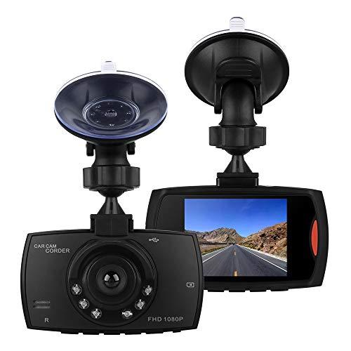 Dash CAM, UGI Car DVR Dashboard Camera Auto Car Recorder Vehículo Cámara Full HD con Pantalla LCD de 2.7'140 ° Gran Angular, Visión Nocturna, WDR, G-Sensor, grabación en Bucle