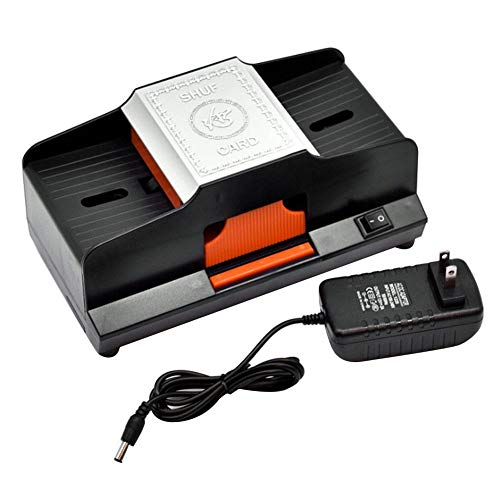 PROKTH High Speed Automatic Card Shuffler 1 or 2 Decks Card Shufflers Plastic Shuffling Card Machine...