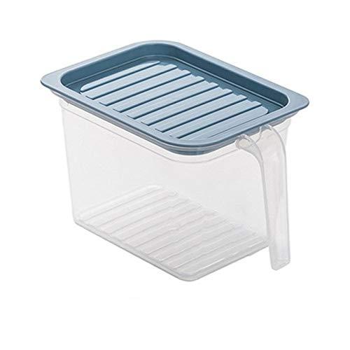 Contenedor De Almacenamiento De Alimentos Caja De Almacenamiento Transparente De Cocina Tarro Sellado Organizador De Almacenamiento De Granos Cajas De Almacenamiento De Refrigerador Grayblues