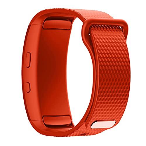 YQSBYI Pulsera Deportiva Impermeable y Duradera Pulsera de Pulsera Smart Strap Strap Silicone Strap Adecuado para Engranaje Fit 2 Pro Correa (Band Color : Orange, Band Width : B size220mm)