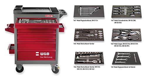 Werkstattwagen bestückt mit 6 Modulen | 7 Schubladen | No.142 | stabile Stahlblechkonstruktion | WGB