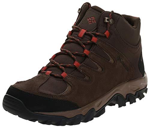 Columbia Men's Buxton Peak MID Waterproof Hiking Shoe, Cordovan, Rusty, 11