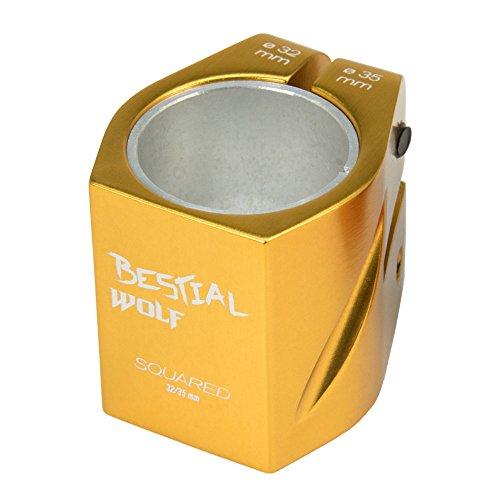 Bestial Wolf Nuevo Clamp 2 Tornillos Squaredgold, Color Dorado, 32-35 mm