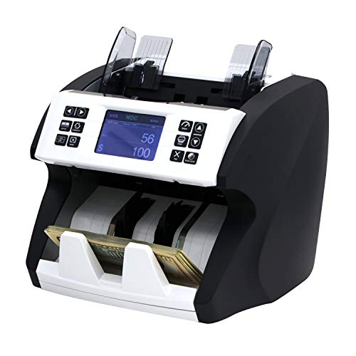 Demotio MA-180S Bank Grade Mixed Denomination and Multi-Currency (USD, EUR, CNY and GBP) Bill Counter with Full Detection and Receipt Printing Function (with Optional Printer)