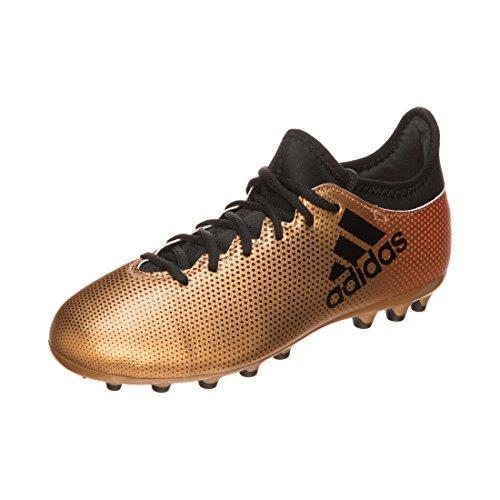 Adidas X 17.3 AG J, Botas de fútbol Unisex Adulto, Amarillo (Ormetr/Negbas/Rojsol 000), 38 EU