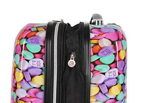 Betsey-Johnson-Designer-Handgepaeck-508-cm-20-Zoll–erweiterbares-ABS-PC-Hardside-Gepaeck–leichter-langlebiger-Koffer-mit-8-rollenden-Spinnrollen-fuer-Frauen