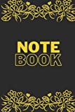 Flower Golden Globe Notebook: For Back To School 120 pages