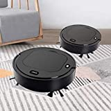 Robot Vacuum Cleaner,4-in-1 Robot Sweeper,Vacuum,Mop,Humidifier,Rechargeable Automatic Smart Robot,Self-Charging Robot Vacuum for Pet Hair,Vacuum Cleaner Edge Cleaning Suction Sweeper (Black)