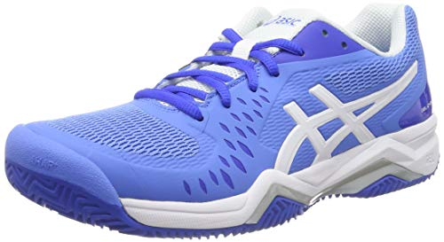 ASICS Gel-Challenger 12 Clay Scarpe da Tennis Donna, Blu (BLUE COAST/WHITE 404), 44.5 EU