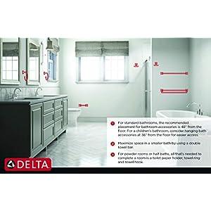 Delta 77550 Ara Single Post Toilet Paper Holder, Chrome