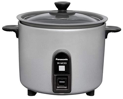 パナソニック炊飯器1.5合ひとり暮らし小型ミニクッカーシルバーSR-MC03-S