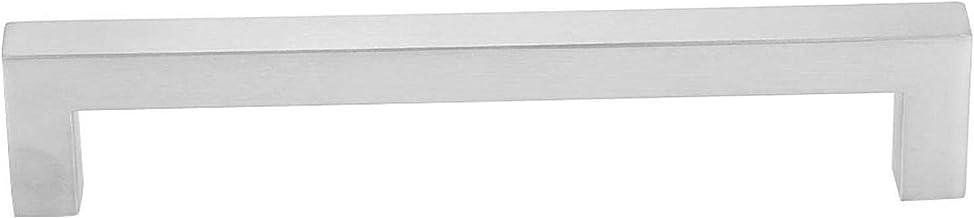 مقبض خزانة بيضاء، مقبض خزانة بسيط من الفولاذ المقاوم للصدأ مربع مع موثوق للخزائن (160مم)