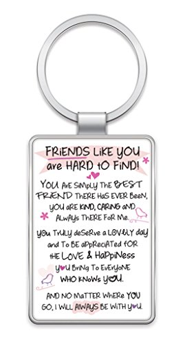 Inspired Words Keyring - Friends Like You Are Hard To Find - Gift Ideas