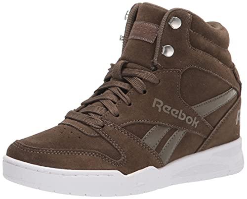 Reebok Women's BB4500 HI 2 Sneaker, Wedge Heel Army Green/White, 5.5