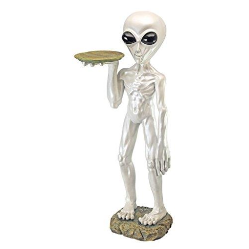 Design Toscano Roswell, der Alien, Butler-Figur