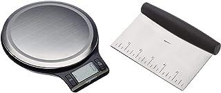 Amazon Basics Balance de cuisine numérique, sans bisphénol A, en acier inoxydable avec affichage LCD (piles fournies) & Co...