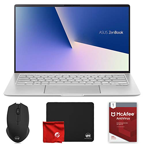 ASUS Zenbook UM433D Ultraslim 14' FHD (AMD Ryzen 7-3700U 2.3GHz, 8GB RAM, 512GB SSD, AMD Radeon RX Vega 10, Windows 10 64-Bit) Laptop Computer Bundle with McAfee Antivirus 1-Year