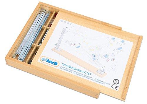 eitech Metallbaukasten, über 527 Teile, in einer Holzbox mit Schiebedeckel, inkl. Bauanleitungen
