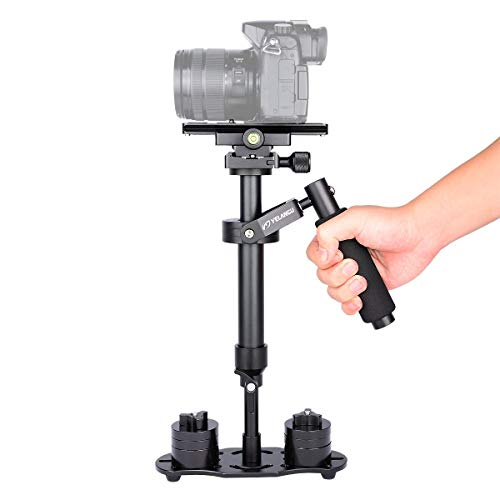 YELANGU Pro Version S40N DSLR Handheld Camera Video Stabilizer for Camera Video DSLR Nikon, Canon, Sony, Panasonic with Quick Release Plate(Black)