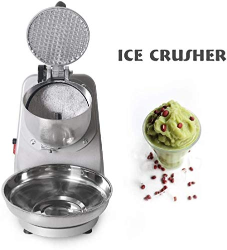 Ice Crusher Ice Shaver Machine Silver Snow Cone Maker voor ijs Koude dranken Fruit Dessert Hour voor huishoudelijk en commercieel gebruik