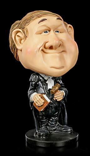 Funny Job Figur - Wackelkopf Rechts-Anwalt   Witzige Anwaltsfigur, handbemalt