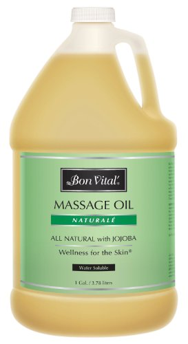 Save %5 Now! Bon Vital Naturale Massage Oil Made with Natural Ingredients for an Earth-Friendly & Re...